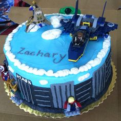 Lego Avengers birthday cake!
