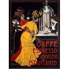 Trademark Fine Art Cafe Espresso Canvas Art by V Ceccanti, 35x47, Multicolor