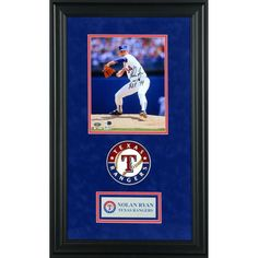 "Nolan Ryan Texas Rangers Fanatics Authentic Deluxe Framed Autographed 8"" x 10"" White Pitching Photograph with HOF 99 Inscription - $249.99"