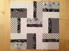 - Modern Stripe Block in Black and White Quilt Block Patterns, Pattern Blocks, Quilt Blocks, Strip Quilts, Patch Quilt, Kid Quilts, Easy Quilts, Quilting Tutorials, Quilting Projects