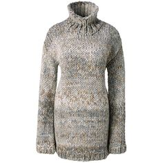 Lands' End Women's Petite Hand Knit Wool Blend Turtleneck Tunic... ($199) ❤ liked on Polyvore featuring tops, sweaters, tan, fuzzy sweater, handknit sweaters, petite sweaters, turtle neck sweater and turtle neck top