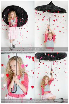 Falling hearts valentines day photo idea.. Cute!