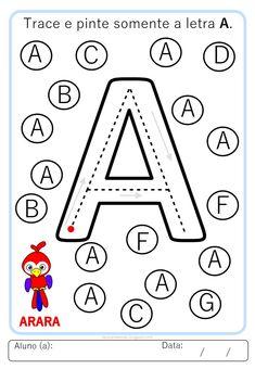 Kindergarten Writing Activities, Kindergarten Addition Worksheets, Letter Worksheets For Preschool, Alphabet Tracing Worksheets, Numbers Preschool, Toddler Learning Activities, Montessori Activities, Alphabet Activities, Book Activities