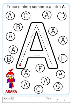 Letter Worksheets For Preschool, Numbers Preschool, Kindergarten Writing, Alphabet Worksheets, Alphabet Activities, Kindergarten Math Worksheets, Preschool Colors, Alphabet Writing, Pre Writing