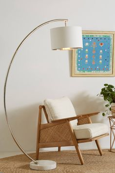 Anthropologie Demi-Arche Floor Lamp - All For Decoration Contemporary Floor Lamps, Modern Floor Lamps, Contemporary Home Decor, Modern Lighting, Lighting Ideas, Hanging Furniture, Plywood Furniture, Modern Furniture, Furniture Design