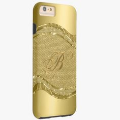 iPhone 6 Plus Cases | Gold Metallic Look With Diamonds Pattern Tough iPhone 6 Plus Case