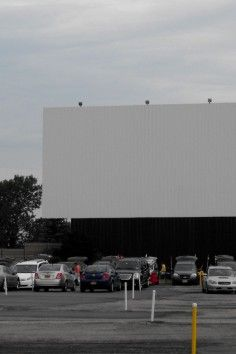Transit Drive-In Theatre, Lockport, NY - Enjoy the sunset while waiting for the films to start!