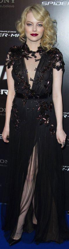 Emma Stone red carpet dress #black