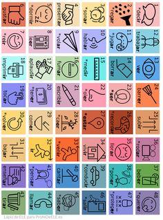 Tablero verbos en español. Descárgalo en www.lapizdeele.com