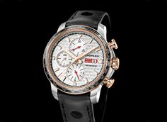 Mid-way between past and present, a new Mille Miglia hits the road this year: the Mille Miglia 2017 Race Edition. With its engine-turned dial finish and its counters inspired by vintage car dashboards, this model issued in limited series of 1,000-piece in steel and 100 in steel and 18-carat rose gold honours the legendary classic car rally that Chopard has been partnering as official timekeeper since 1988. These modern and sophisticated new timep