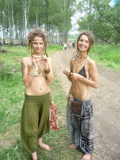 Happy hippies.