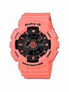 Casio Women's Baby-G Analog-Digital Display Quartz Orange Watch G Watch, Casio Watch, Stylish Watches, Cool Watches, Luxury Watches, New Digital Camera, Sporty Watch, G Shock Watches, Baby G