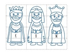 Tři králové - skládačka Christmas Cards Drawing, Christmas Paper Crafts, 3 Kings Day Crafts, Kindergarten Portfolio, Winter Wedding Decorations, Church Nursery, Felt Quiet Books, Kindergarten Crafts, Winter Crafts For Kids