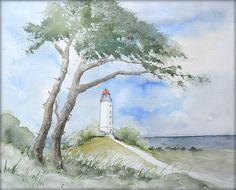 Insel Hiddensee - Aquarell - 24 x 30 cm - Original - Landschaft