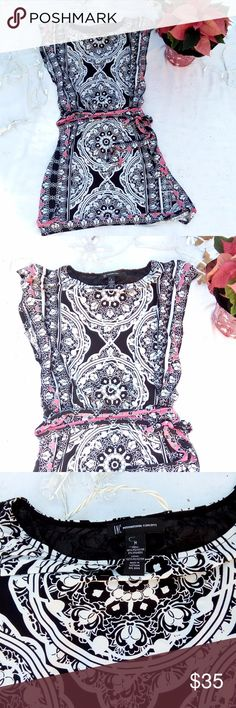 INC Patterned Dress INC - International Concepts Like New Condition Women's Size Medium fourth picture is a stock photo - Same dress, but in a different pattern. INC International Concepts Dresses