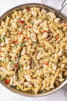 Parmesan Cream Sauce, Creamy Chicken Pasta, How To Cook Pasta, How To Cook Chicken, Cheesy Sauce, Boneless Skinless Chicken, Weeknight Dinners, Stuffed Green Peppers, Pasta Salad