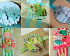 This could be used any time of year ~ 3D Christmas Gift Toppers | FaveCrafts.com