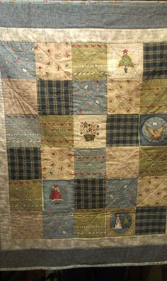 I also used some lovely soft homespuns in this quilt Annie Downs, Christmas Baby, Xmas Decorations, Baby Quilts, Applique, Patches, Scrap, Embroidery, Blanket