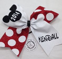 Personalized World's Mickey Full Glitter Cheer by KallysBOWtique, $15.00
