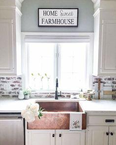Rustic kitchen sink farmhouse style ideas (51)