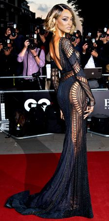 Jourdan Dunn wears a dress from the Fall Winter 2014/2015 ZUHAIR MURAD COUTURE collection to the  GQ Men of the Year Awards 2014