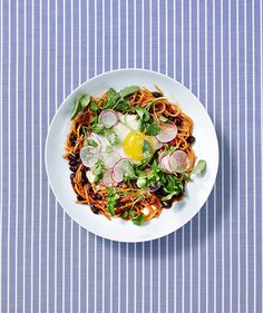 Mexican-Style Noodles With Fried Eggs | Real Simple / September 2015