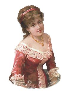 Victorian Lady Cut Out - Vintage Ephemera
