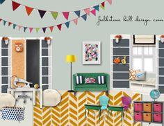 Homeschool room Design Board by @fieldstonehill