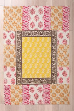 Provencal Block Print Handmade Rug to go in the living room