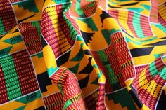 Kente Print Fabric Ankara African Print African by EtamStudio Ankara Fabric, African Fabric, Unique Outfits, Crafts To Make, Printing On Fabric, Wax, Pillows, Etsy, Color