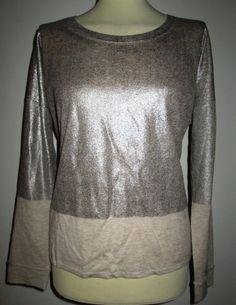 * * * MARC CAIN SPORTS Pullover silber/beige, Gr.5/D42 * * *
