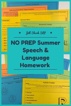 This NO-PREP, literacy- and evidence-based packet is the perfect resource to help your students practice their speech sounds and/or language goals over the summer! It includes a parent letter (one for speech, one for language) and 8 evidence- and literacy-based activities each for /k, l, r, s & z/ , /r/ blends, /s/ blends, and multisyllabic words using summer vocabulary, as well as 8 activities for language. This also works as a no-print resource if opened on an iPad or computer.