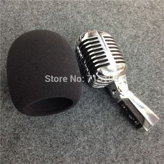 High Quality Microphone Ball Shape Foam Cover  For Vintage Microphone Classic Microphone Windscreen Inner Size 60*98mm //Price: $13.80      #shopping