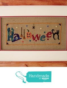 Halloween Cross Stitch Chart, X Stitch, Counted Embroidery (Printed Pattern Only) DIY Home Decor from Turquoise Graphics & Designs https://www.amazon.com/dp/B01N10MZ32/ref=hnd_sw_r_pi_dp_m2qGybMGHKVVJ #handmadeatamazon