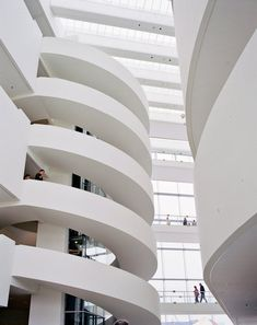 In Aarhus, Denmark, ARoS art museum - the stairs inside with 10 floors. One of Northen Europe's largest art museums.