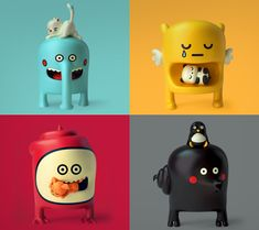 The Barbatonics by Elisa Sassi and Quailstudio a.k.a Amaury Lemal. Such cute designs, I really hope they get developed into vinyl toys.