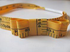 Measuring tape headband - sew cute!