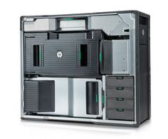 HP Z820 Workstation Interior - form meets function in this beautifully designed desktop computer interior. No tools required.