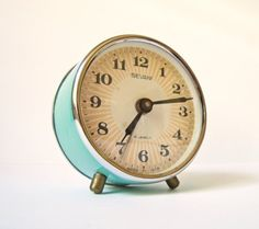 Vintage mechanical alarm clock. Sevani. Armenia, 1951. ClockworkUniverse on Etsy