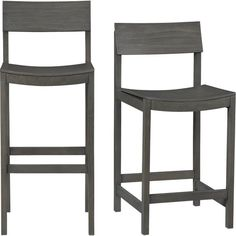 gray bar stools - would have to see where the back hits & whether there's lumbar support