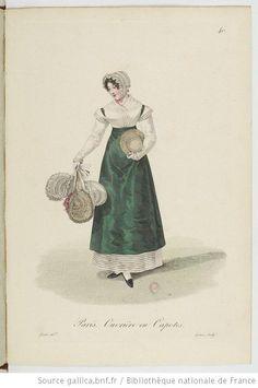 Ouvrière en Capotes from Georges-Jacques Gatine, Costumes d'ouvrières parisiennes, 1824, BNF Paris