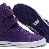 Justin Bieber Supras Purplered Suede White