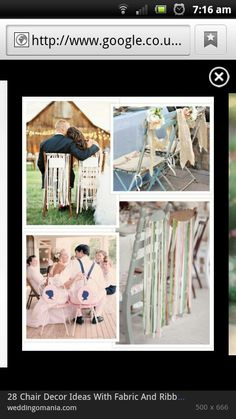 Creative alternative to the standard white chair covers n bow