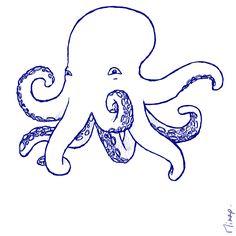 poulpe dessin