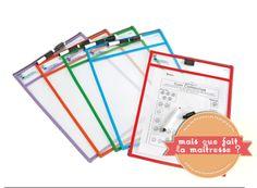 DIY : pochettes plastifiées rigides