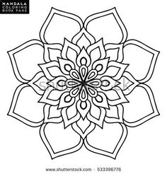 Find Flower Mandala Vintage Decorative Elements Oriental stock images in HD and millions of other royalty-free stock photos, illustrations and vectors in the Shutterstock collection. Coloring Book Art, Mandala Coloring Pages, Colouring Pages, Rangoli Borders, Rangoli Border Designs, Mandala Art Lesson, Mandala Drawing, Geometric Tattoo Stencil, Celtic Patterns