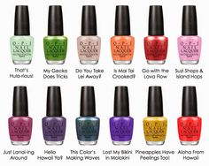 OPI NAIL POLISH - HAWAII COLLECTION 2015