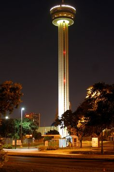 cruise to the top and stay a while - Tower of the Americas. San Antonio, TX  Note : this tower is 145 feet higher than the space needle in Seattle