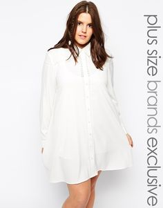 Image 1 of Alice & You Plain Embroidered Shirt Dress