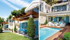 loving the turquoise shutters-- very resort like